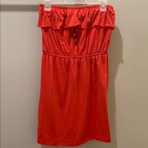 Dresses & Skirts - Red Strapless Dress